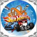 084 Opłatek Hot Weels samochody auta wyścigowe
