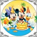 085 085 Opłatek na tort Myszka Miki Minnie i Kaczor Donald urodziny  z tortrm
