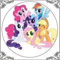 93 Opłatek kucyki pony 6 postaci ładny