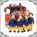 094 Opłatek Strażak Sam wóz strażacki