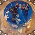10 Tort Kraina Lodu , org. Frozen cake