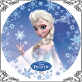 101 opłatek Elsa z Kraina Lodu ze snieżkami Elza