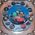 2 Tort samochody z Bajki Cars  z opłatkiem cars cake