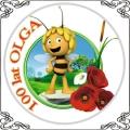 27 Pszczółka Maja opłatek na tort Maja Bee