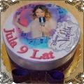 33 Tort z Violettą na wydruku jadalnym , Violetta Cake