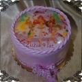 60 Tort księżniczki winx fototort  3 postacie fiolet