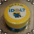68 Tort minionek idol fototort na 8 urodziny jedno oko