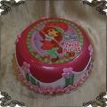 73 Tort strawberry shortcake fototort z kwiatkami truskaweczka