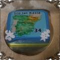 76 Tort wyspa Hiszpania fototort na 34 urodziny mapa