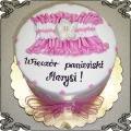 55 Tort  z różową podwiązką na panieński