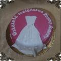 69 Tort suknia ślubna  biała na wieczór panieński