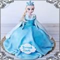 101 Tort lalka księżniczka Elza , kraina lodu , lalka przestrzenny tort