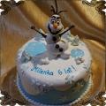 102 Tort z bałwanem Olafem śnieg lód kraina lodu