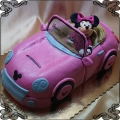 107 Tort myszka Minnie różowe auto cabrio kabriolet