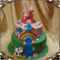 120 Tort piętrowy kucyki pony zamek wieża tęcza wodospad
