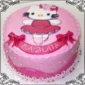 16 Tort dla dziewczynki z płaską dekoracja Hello Kitty Cukiernia Pod Arkadami Kraków