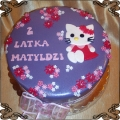 17 Tort dla dziecka płaski hello kitty Cukiernia Pod Arkadami Kraków