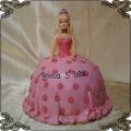 23 Tort dla dzieci lalka przestrzenna w różowej sukni Cukiernia Pod Arkadami Kraków