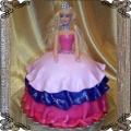 25 Tort dla dzieci lalka przestrzenna niebiesko różowa suknia Cukiernia Pod Arkadami Kraków