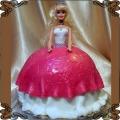 26 Tort dla dzieci lalka przestrzenna w biało różowej sukni Cukiernia Pod Arkadami Kraków