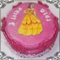 30 Tort dla dzieci z księżniczką Bella z bajki Piękna i Bestia