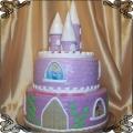 36 Tort dla dziewczynek fioletowy zamek z wieżyczkami Cukiernia Pod Arkadami Kraków