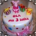 42 Tort swinka Peppa figurka z lukru i prezenty na urodziny