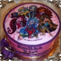 45 Tort Monster High sześć postaci lalek