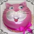 63 Tort dla dziecka z różową głową kota Cukiernia Pod Arkadami Kraków