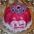 74 Tort królewski z diademem na piąte urodziny