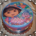 79 Tort Dora poznaje świat  ze świeczkami urodzinowymi