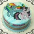 8 Tort z Kucykami  Pony  Rainbow Dash i Twilight Sparkle