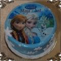 96 Tort Anna i Elza z Krainy lodu oraz Olaf fototort grafika na oplatku Frozen Cake