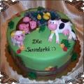 107 Tort farma dla dzieci jeziorko krowa świnka owieczka