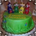 140 Tort z teletubisiami Tinky Winky Dipsy Laa-Laa Po