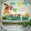 17 Tort dla dzieci z Kubusiem Puchatkiem  na łące na roczek