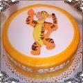 23 Tort dla dzieci z tygryskiem w dekoracji z lukru Cukiernia Pod Arkadami Kraków