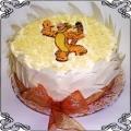 24 Tort dla dzieci z tygrysem w białej czekoladzie Cukiernia Pod Arkadami Kraków