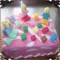 27 Tort dla dzieci z klockami Lego kwadratowy Cukiernia Pod Arkadami Kraków