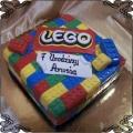 28 Tort kolorowe klocki Lego kwadrat