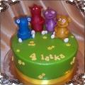 35 Tort przytulaczki Cuddlies Jam-Jam, O-o, Dodo i Łaskotek