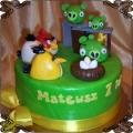 42 Tort Angry Birds ptaki i świnie oraz jajka dla Mateusza