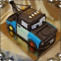 100 Tort w kształcie auta złomek z bajki cars