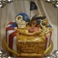 116 Tort dla pirata czaszka czarna flaga skrzynia skarbów mapa skarbów
