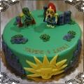 121 Tort lego Chima książę Laval Cragger - Książę krokodyli