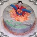 22 Tort dla dzieci z jadalną figurką supermena Cukiernia Pod Arkadami Kraków  Krakowskie Torty Artystyczne