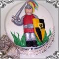 47 Tort dla chłopca z tarcza i mieczem urodzinowy Cukiernia Pod Arkadami Kraków  Krakowskie Torty Artystyczne