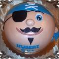 49 Tort  niebieski pirat z opaską na oku  wąsikiem i brudką