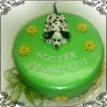 53 Tort z pieskiem dalmatyńczykiem dla chłopca Krakowskie Torty Artystyczne