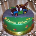 56 Tort Złomek Mater na drodze ang.Tow Mater cake